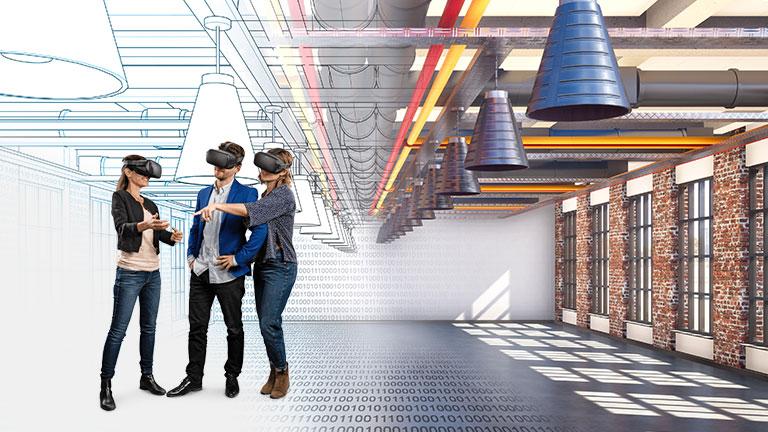 Mit HEGIAS VR in der Virtual Reality ein Bauprojekt besprechen
