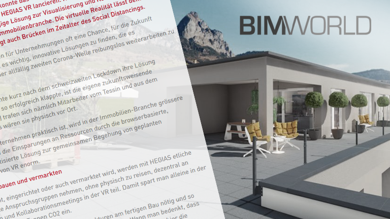 BIM World Immobilienprojekte mit VR